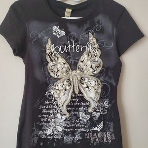 Beaded Butterfly Tshirt